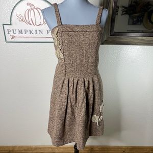 🐾3/$20 Aniina Tweed Jumper Dress Size Small